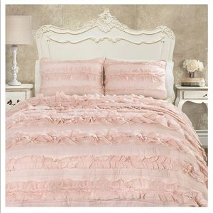 Lush Decor Belle Quilt Set - Pink Blush - Twin